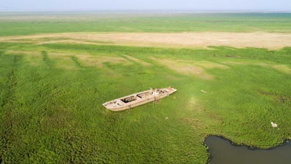 湖鄱阳湖水位跌破12米 提前进入枯水期