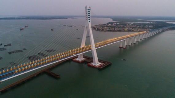海文大桥举行通车仪式 今天下午3点正式通行