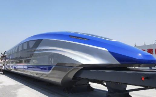 我国时速600公里高速磁浮试验样车在青岛下线