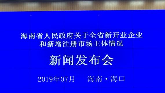 回看:海南省新开业企业和新增注册市场主体情况新闻发布会