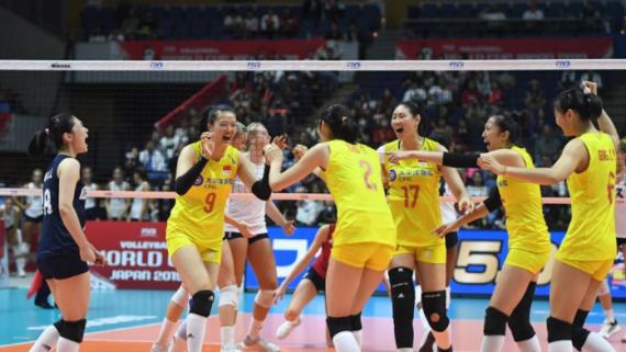 排球——女排世界杯:中国队战胜美国队