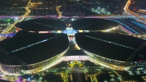 """""""国展中心""""流光溢彩"""