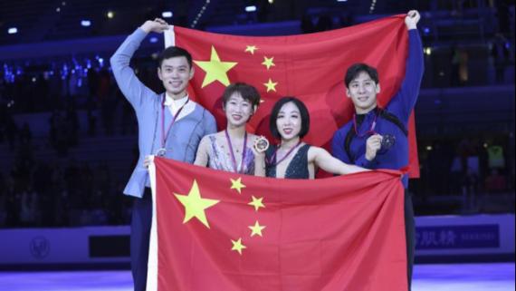 花樣滑冰——大獎賽總決賽:中國選手包攬雙人滑金銀牌
