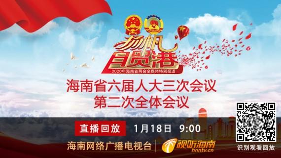 回看:海南省六届人大三次会议第二次全体会议