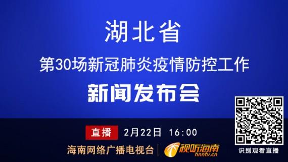 回看:湖北省第30場新冠肺炎疫情防控工作新聞發布會