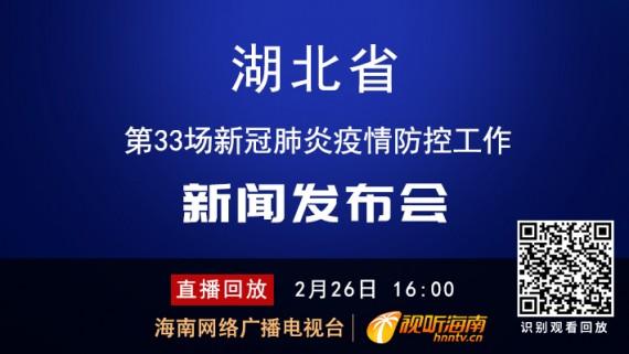 回看:湖北省第33场新冠肺炎疫情防控工作新闻发布会