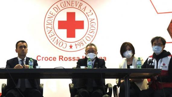 中國抗疫醫療專家組與意方舉行發布會