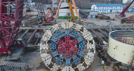 """""""大國重器""""亮相莫斯科——中國11米級大盾構機在俄始發記"""