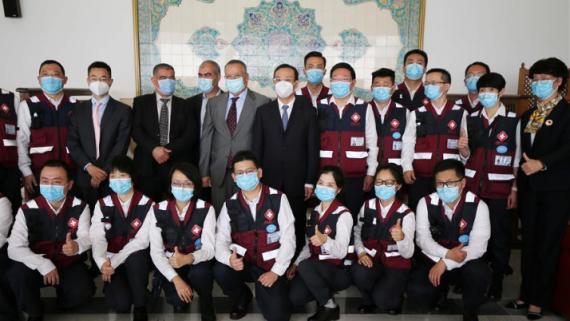 中国抗疫医疗专家组离开阿尔及利亚前往苏丹