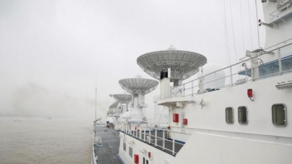 远望6号船首赴三大洋执行海上测控任务