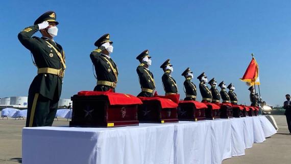 中韩交接第七批在韩中国人民志愿军烈士遗骸