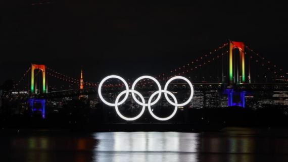 巨型五环标志重返东京湾