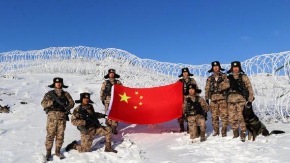 守好国门!零下16℃ 边防战士踏雪巡逻