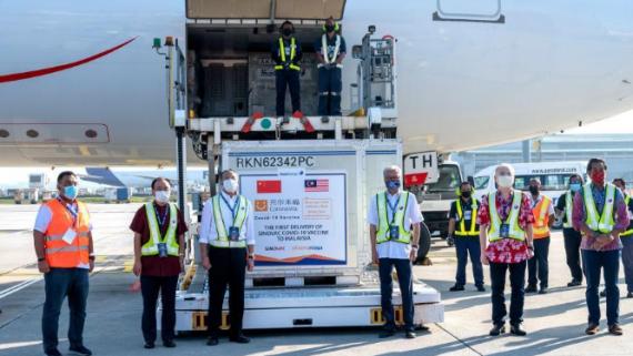 中国科兴新冠疫苗运抵马来西亚
