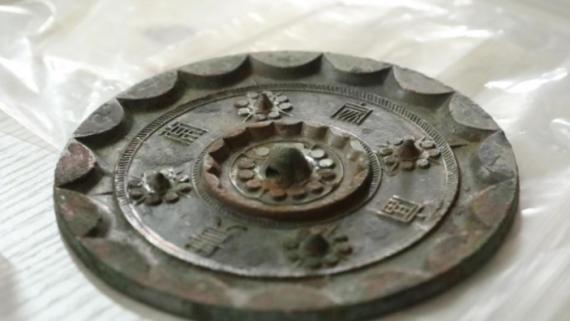 陕西考古发现:2000多年西汉铜镜仍光可鉴人