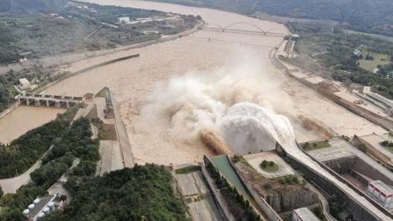 應對秋汛 黃河小浪底水庫持續高水位運行