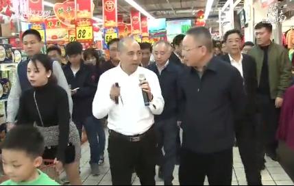 沈晓明在海口检查节日市场供应时强调:要让海南百姓餐桌上有安全廉价的过年菜