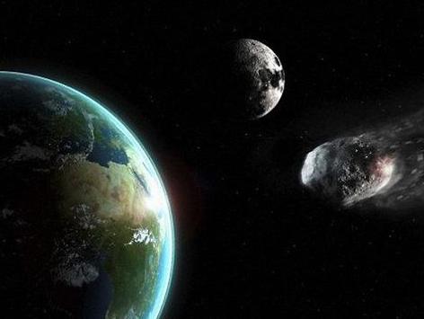 一颗小行星近距离飞掠地球