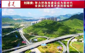 刘赐贵:努力把海南建设成为新时代全面深化改革开放的新标杆