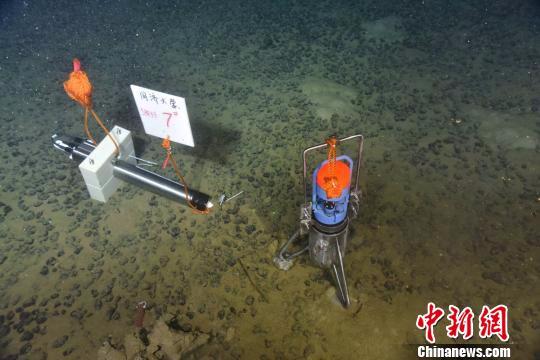 海底原位观测。 供图。