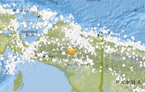 印尼东部发生5.4级地震震源深度88.3公里