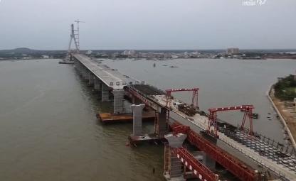 铺前大桥年底前将与海口江东大道贯通