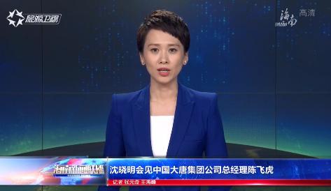 沈晓明会见中国大唐集团公司总经理陈飞虎