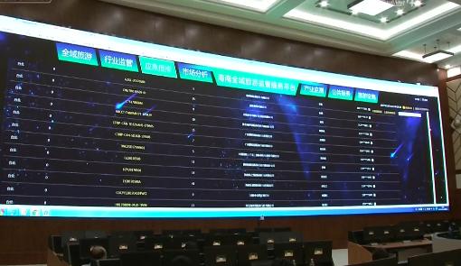"""海南:""""大数据""""平台构建全省""""一张网"""" 实现信息跑路 服务上门"""
