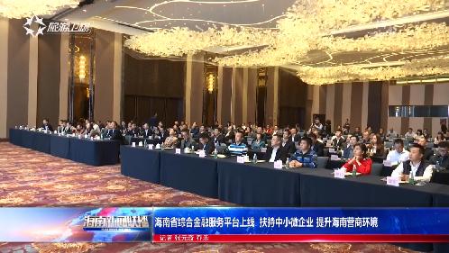 海南省综合金融服务平台上线  扶持中小微企业 提升海南营商环境