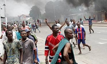 刚果(金)示威游行抗议总统选举结果