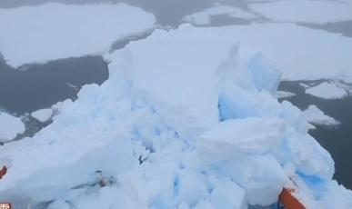 """""""雪龙""""船在南极阿蒙森海密集冰区中撞上冰山 成功脱险"""