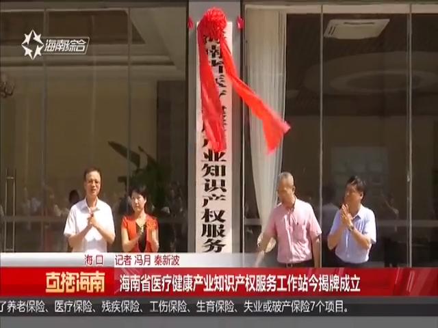 海南省医疗健康产业知识产权服务工作站今揭牌成立