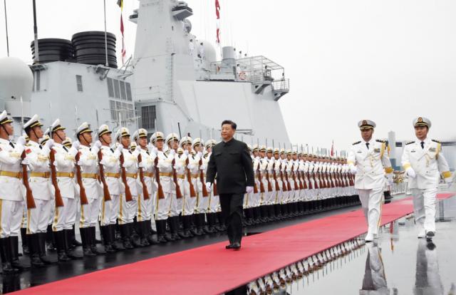 庆祝人民海军成立70周年海上阅兵活动开始 习近平检阅我海上编队