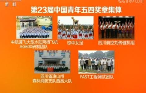 """第23屆""""中國青年五四獎章""""評選揭曉 瓊中女足榜上有名!"""