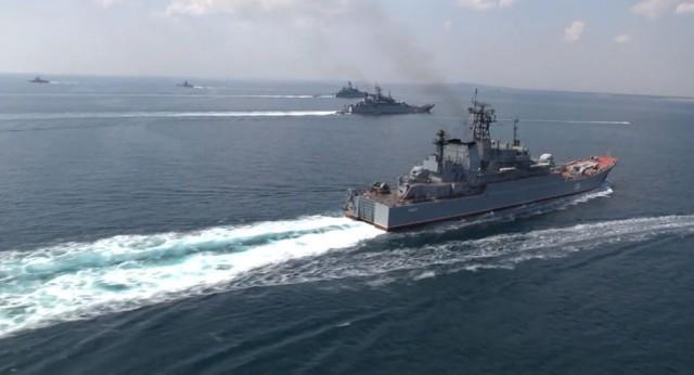 北约军队扎堆黑海演习 俄军黑海舰队也出动练兵