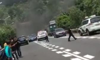 網傳海南一隧道發生連環車禍并起火?警方辟謠來了!