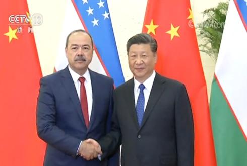 習近平會見烏茲別克斯坦總理