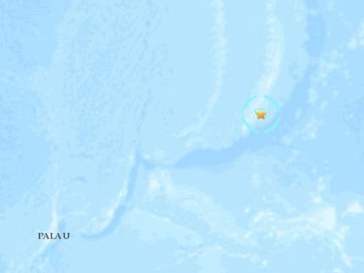 西太平洋關島附近發生5.6級地震 震源深度67.5公里