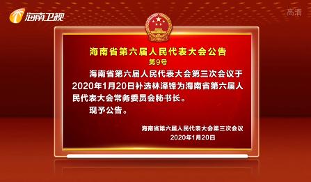 海南省第六届人民代表大会公告  第9号