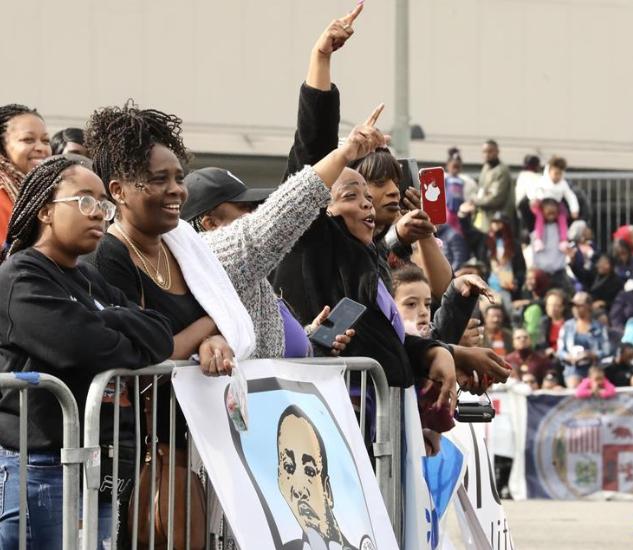洛杉矶举行马丁·路德·金纪念日游行
