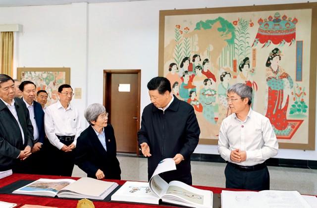 习近平:在敦煌研究院座谈时的讲话