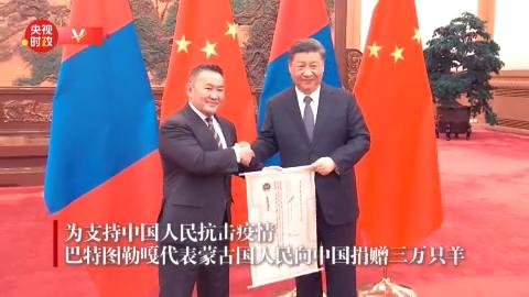 蒙古国总统向中国赠送30000只羊
