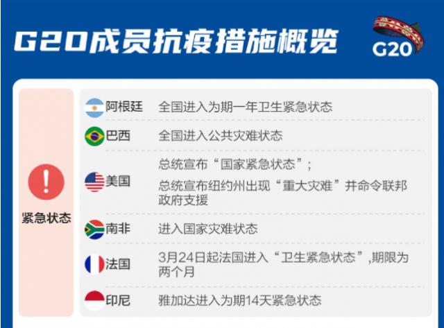 一圖讀懂G20成員抗疫行動