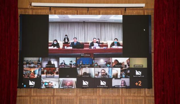 中国与阿盟就新冠疫情举行首次卫生专家视频会议