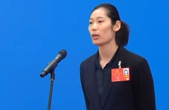 """朱婷代表:""""女排精神""""也是我们的民族精神"""