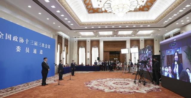 全国政协委员通过网络视频方式接受媒体采访