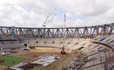 来自海南自贸港建设一线的声音 亚沙会主场馆钢结构正式卸载 进入新施工阶段