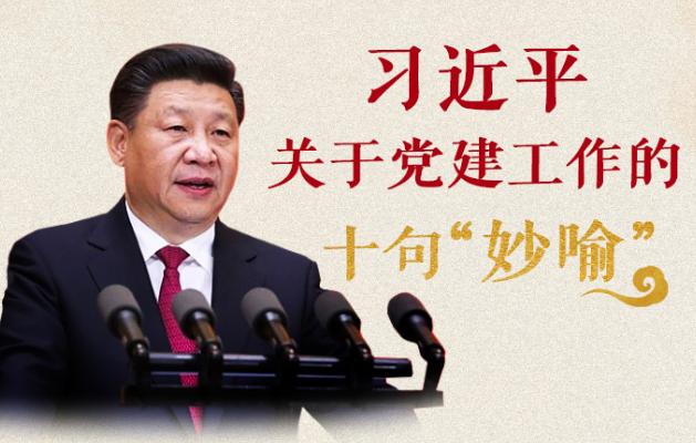 """习近平关于党建工作的十句""""妙喻"""""""