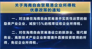 两部委发布海南自贸港企业所得税 高端紧缺人才个人所得税优惠政策