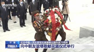 纪念中国人民志愿军抗美援朝出国作战70周年丨向中朝友谊塔敬献花篮仪式举行